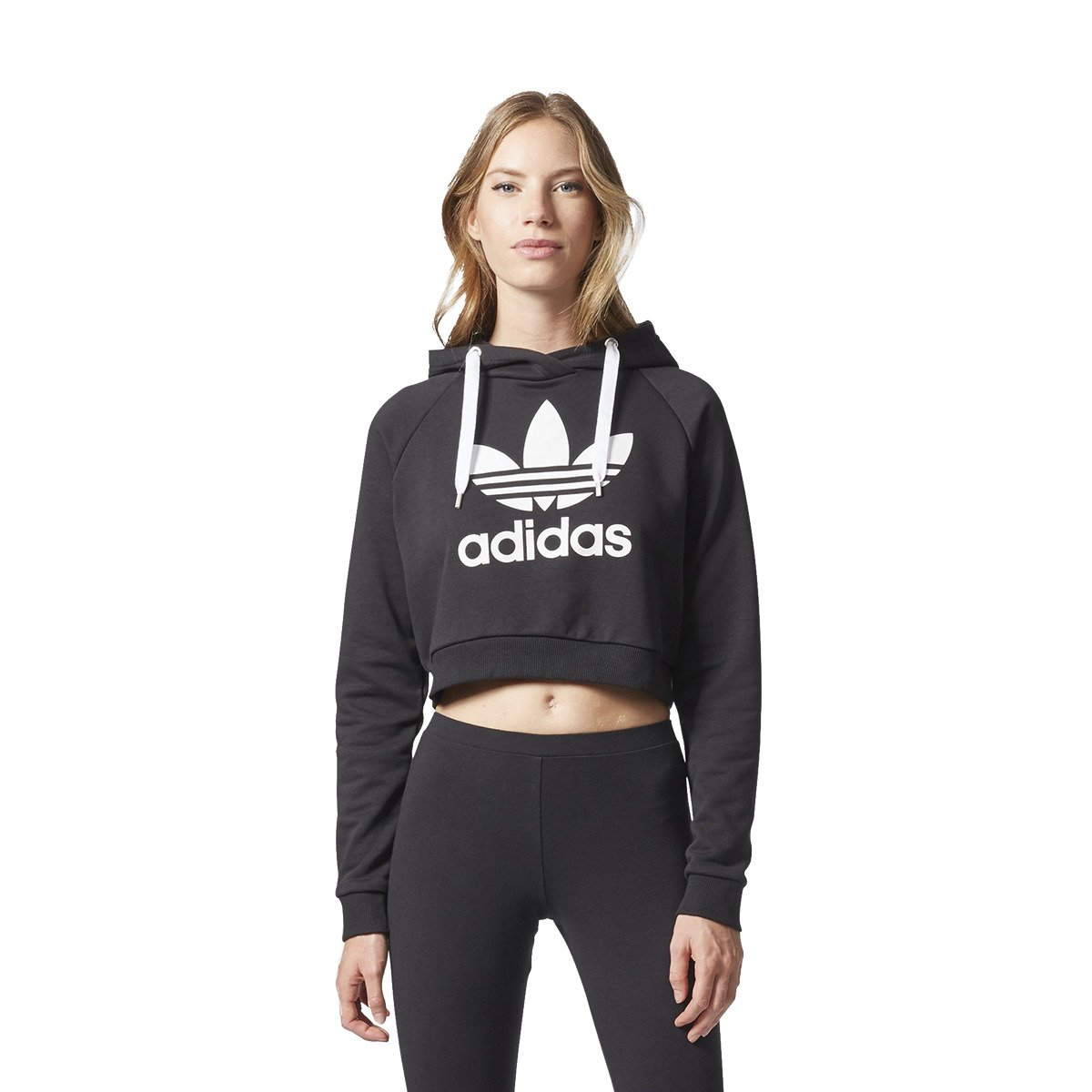 adidas sweat trefoil crop