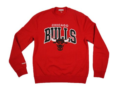 Mitchell & Ness NBA Chicago Bulls Team Arch Blouse - MN-1-TMARCHCREW-CHIBU-RED
