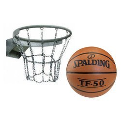 Basketball Rim + Spalding TF-50 Basketball