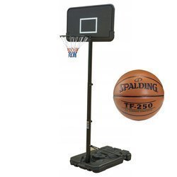 Ensemble de basket Black 305 cm + Spalding Basketball TF-250