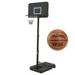 Ensemble de basket Black 305 cm + Spalding Basketball TF-50