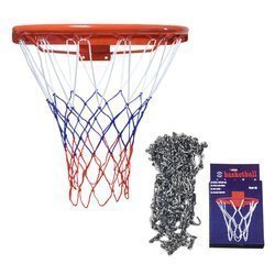 Kimet Super Basketball Cercle 45cm + Sure Shot 405 Filet De Basket En Chaîne