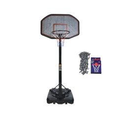 Mobile basketball set LEAN 200-300 cm + Sure Shot 405 Basketball Chain Net