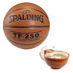 Spalding Ballon de basket TF-250 Indoor/Outdoor + MAX'IS Creations Basketball The Mug With A Hoop