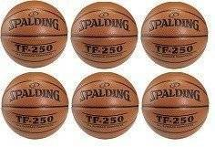 Spalding Ballon de basket TF-250 Indoor/Outdoor x6