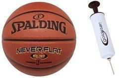Spalding Never Flat indoor/outdoor Basketball - 3001530010017 + Pump