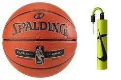 Spalding Platinum ZK Legacy Indoor Basketball + Nike Essential Dual Action Ball Pump