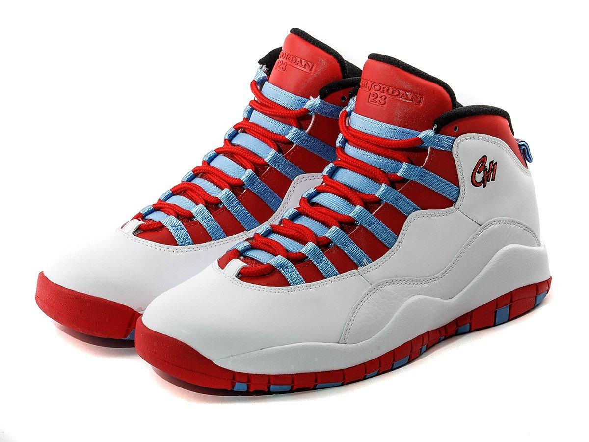 tanie trampki super promocje ujęcia stóp Air Jordan 10 Retro Chicago Chaussures - 310805-114