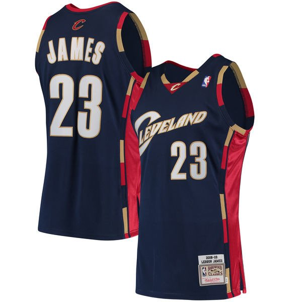 new products cfba4 b51a6 Mitchell & Ness LeBron James 2008-09 NBA Hardwood Classics ...
