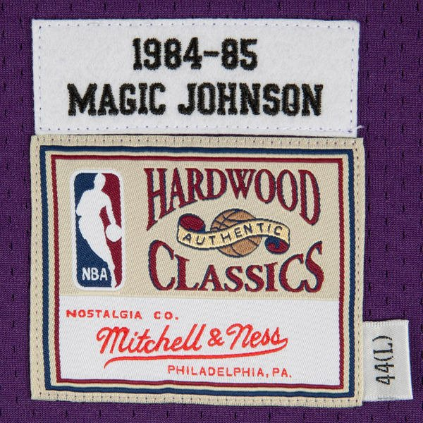 9399d4b5d Mitchell   Ness Magic Johnson 1984-85 NBA Hardwood Classics Swingman Los  Angeles Lakers Jersey