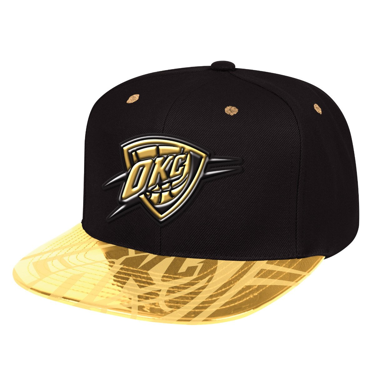 new style 89f77 fd9a6 Mitchell   Ness NBA Gold Standard Oklahoma City Thunder Snapback -  Basketo.fr