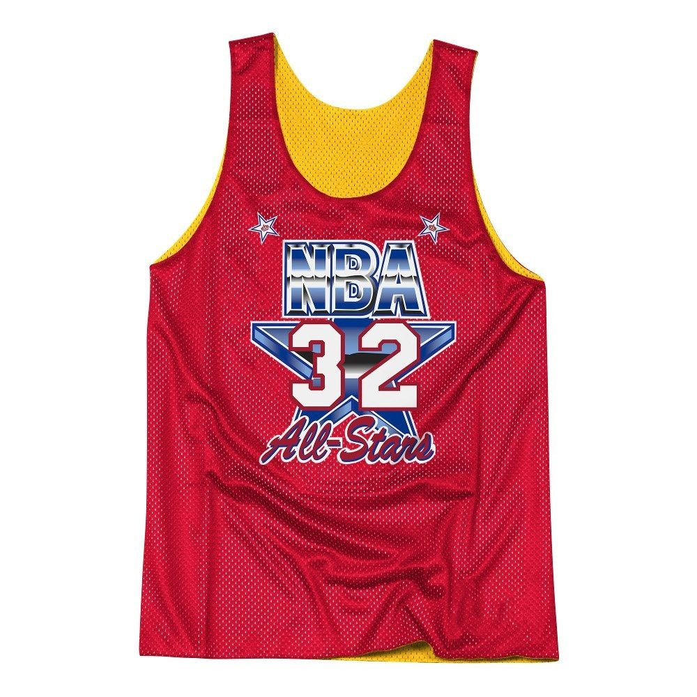 28a6463d4ffcf Mitchell   Ness NBA Los Angeles Lakers All Star 1991 Magic Johnson Reversible  Mesh Tank