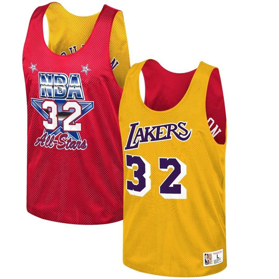 6f7c753e94c Mitchell & Ness NBA Los Angeles Lakers/All Star 1991 Magic Johnson  Reversible Mesh Tank