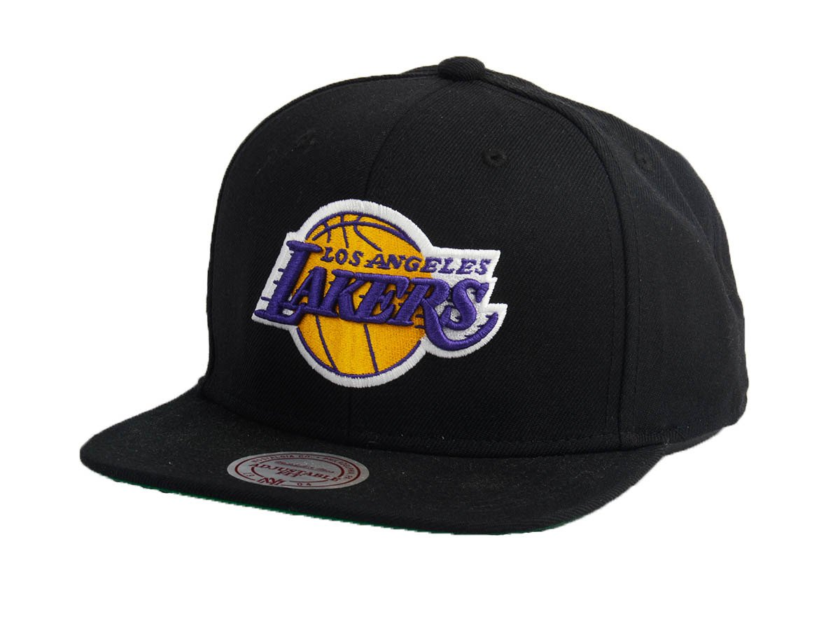 san francisco 9fe0c adf11 Mitchell   Ness NBA Los Angeles Lakers Wool Solid Snapback