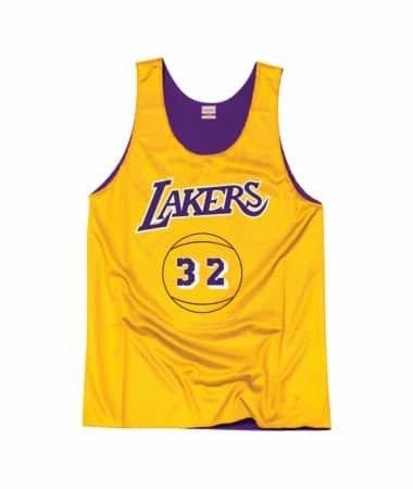 de99a7a41aed9 ... Mitchell   Ness NBA Magic Johnson Los Angeles Lakers Reversible Tank top  - BA85AK ...