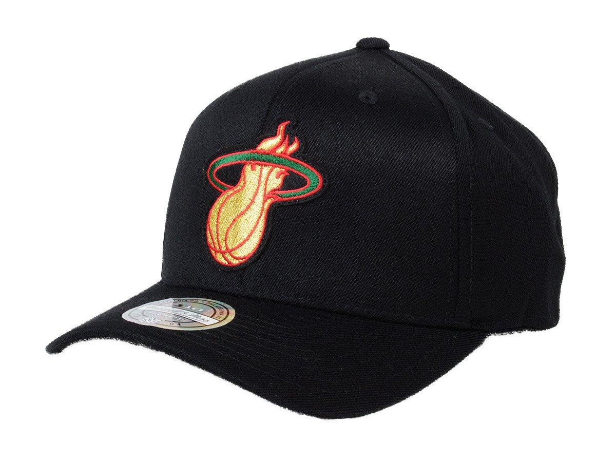 the latest 40b0a db36b ... Mitchell   Ness NBA Miami Heat Luxe 110 Snapback ...
