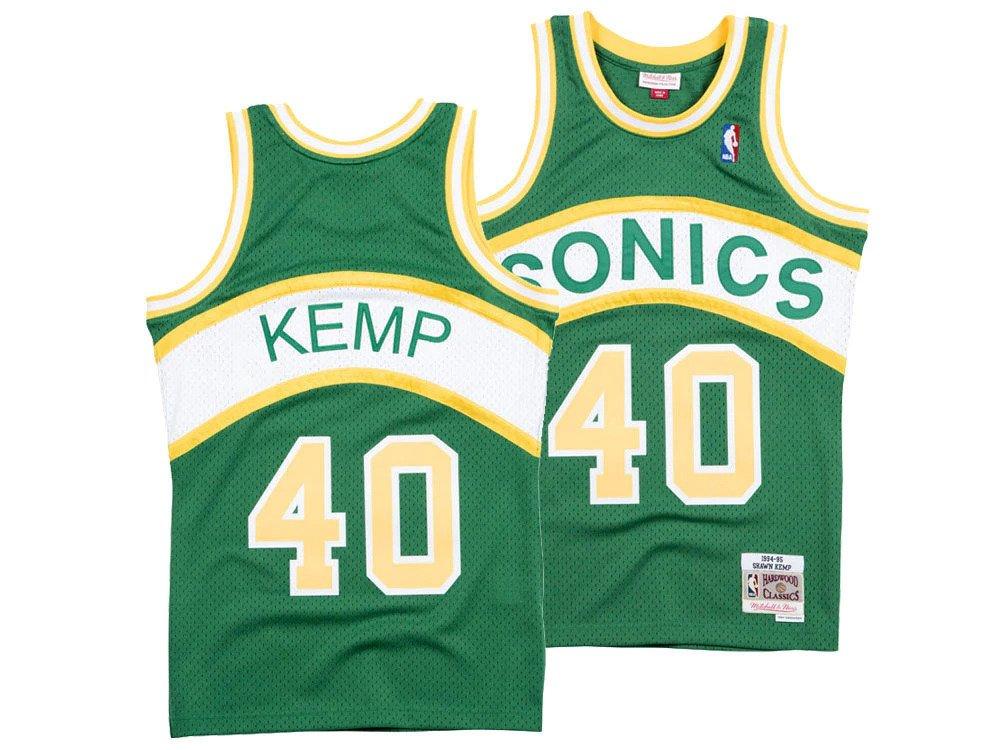 the best attitude 46751 889be Mitchell & Ness NBA Seattle Supersonics Shawn Kemp Swingman ...