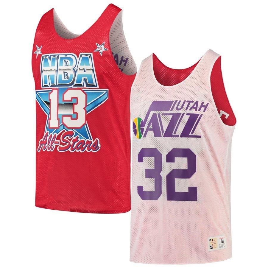e082fda7a9d Mitchell   Ness NBA Utah Jazz All Star 1991 Karl Malone Reversible Mesh Tank