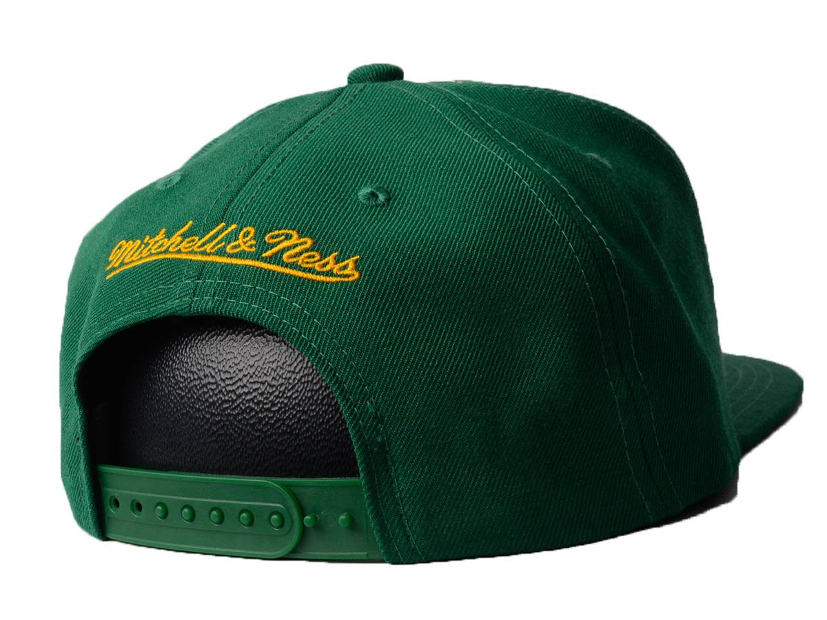 2910c9b46d99 ... Mitchell   Ness Wool Solid NBA Seattle Supersonic Snapback Casquette ...