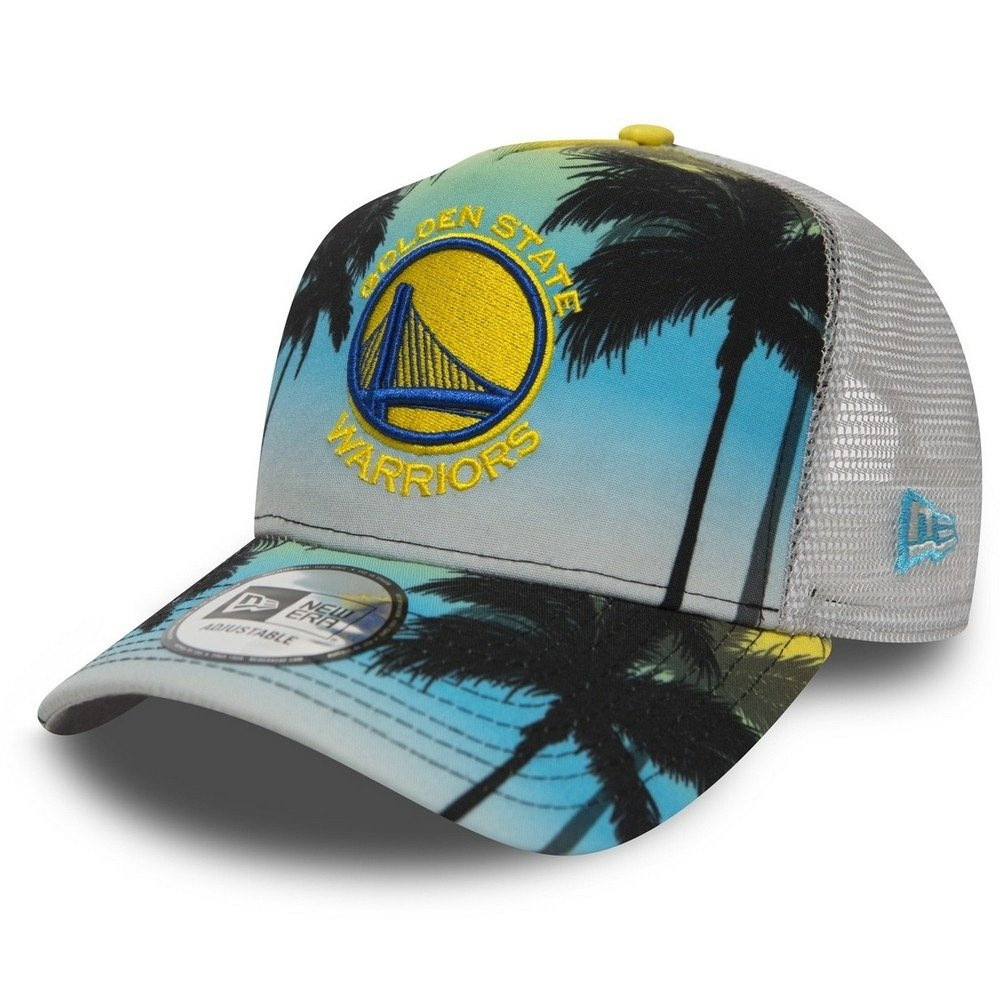 new concept ff0c9 776d9 New Era Coastal Heat NBA Golden State Warriors Trucker Cap - 80581162