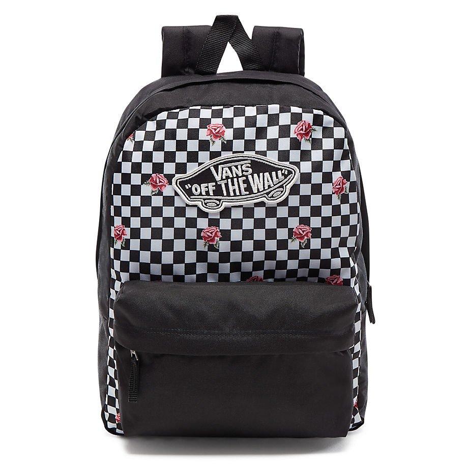 3fb0d4ddbc6a VANS Realm Backpack Rose Checker Sac à dos Custom Pink Roses ...