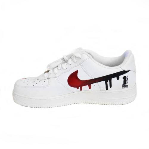 Air Force 1 Low All White Custom Pablo Numero Uno