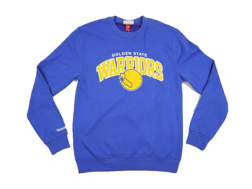Mitchell & Ness Golden State Warriors NBA Team Arch Crew Blouse - MN-NBA-TMARCHCREW-GOLWAR
