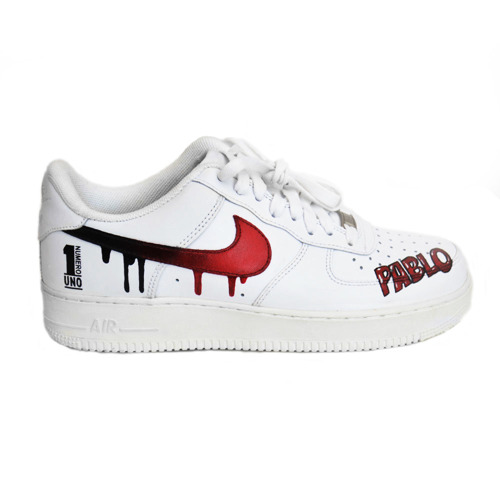 Custom Pablo Numero Uno Air Force 1 Low All White