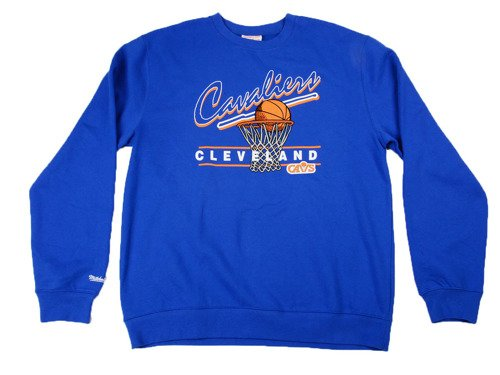 Mitchell & Ness NBA Cleveland Cavaliers Royal Crewneck