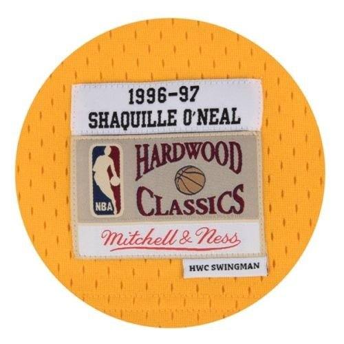 Mitchell & Ness Shaquille O'Neal 1996-97 NBA Hardwood Classics Swingman Los Angeles Lakers Jersey