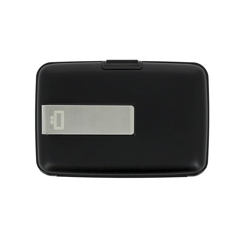 Ogon Designs Stockholm Money Clip Black Aluminium Wallet RFID protect